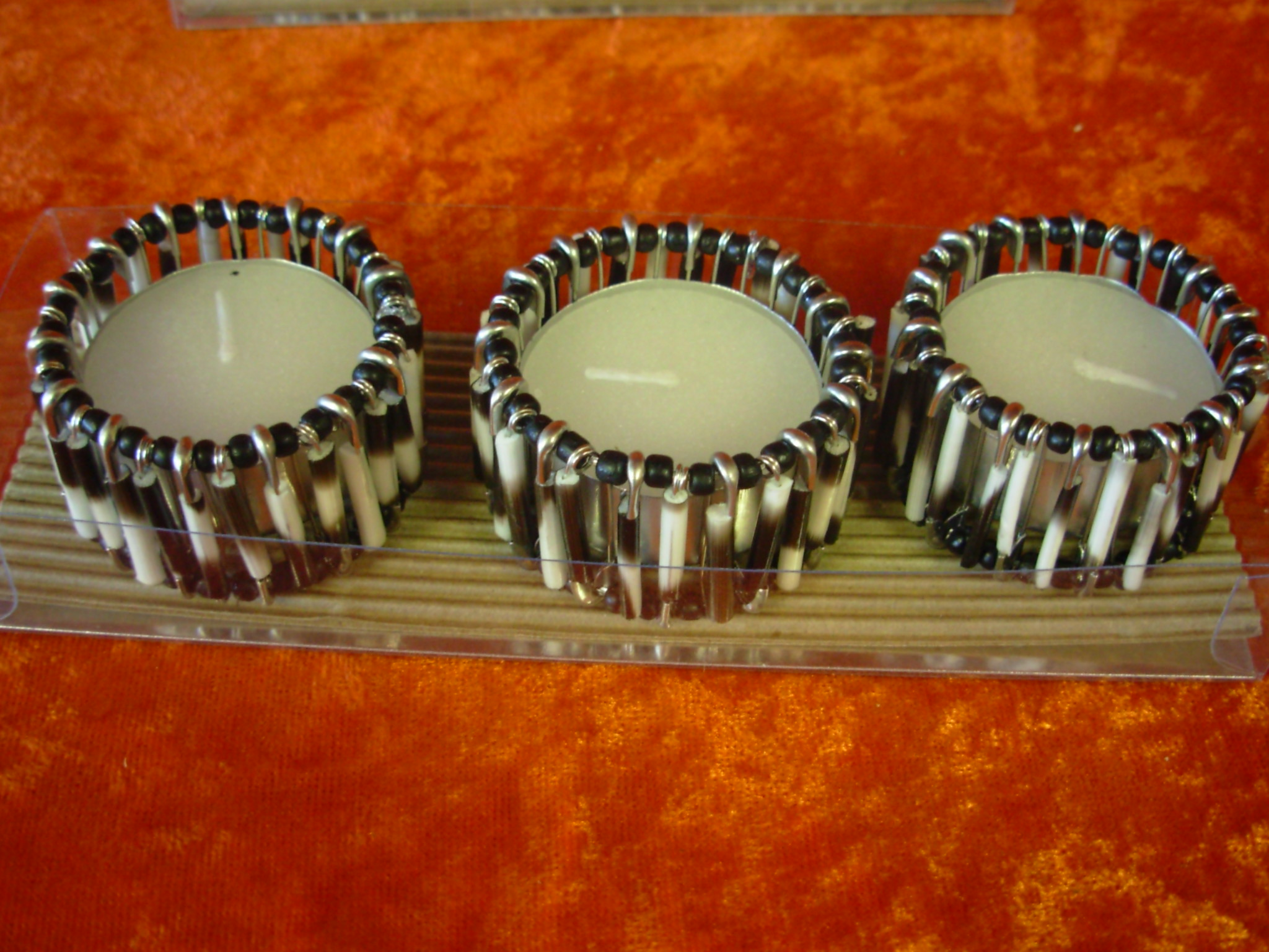 Porcupine Tea-Light Candle Holders (3)